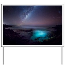 Milky Way over Southern Ocean Yard Sign