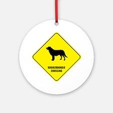 Kooikerhondje Crossing Ornament (Round)