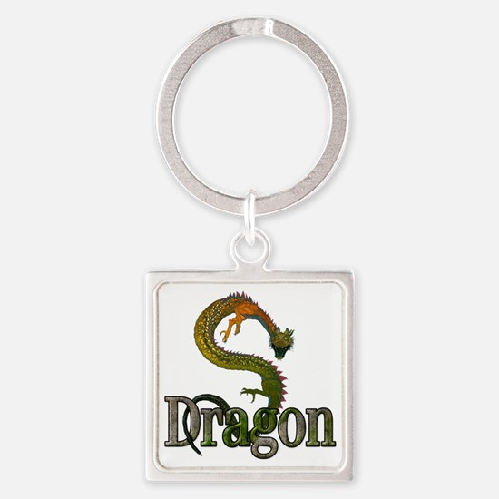 3d_dragon Square Keychain