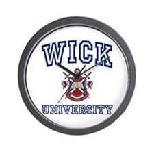 WICK University Wall Clock