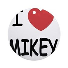 I heart MIKEY Round Ornament