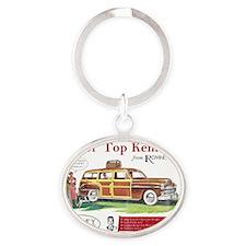 Roof_shirt Oval Keychain