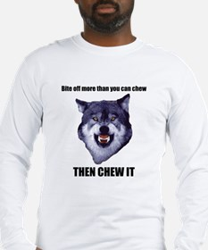 Courage Wolf Long Sleeve T-Shirt