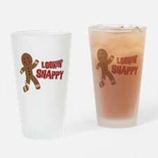 Gingerbread Man Snappy Drinking Glass