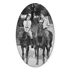 Couple riding horses B Decal