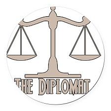 The Diplomat Round Car Magnet