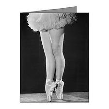 Ballerina en pointe B Note Cards (Pk of 20)