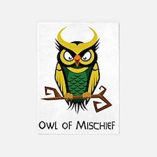 Owl of Mischief 5'x7'Area Rug