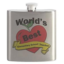 Worlds Best Elementary School Teacher Flask