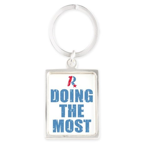 Romney Doing The Most Portrait Keychain