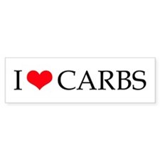 I Love Carbs - Bumper Bumper Sticker