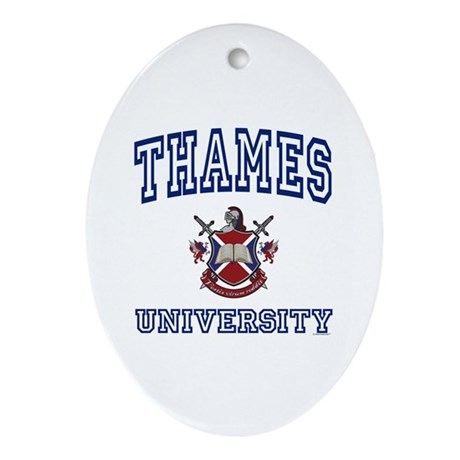 THAMES University Oval Ornament