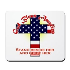 God Bless America Christian Mousepad