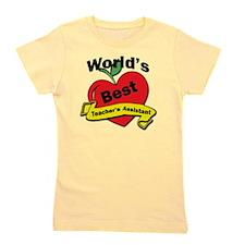 Worlds Best Teachers Assistant Girl's Tee