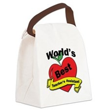 Worlds Best Teachers Assistant Canvas Lunch Bag