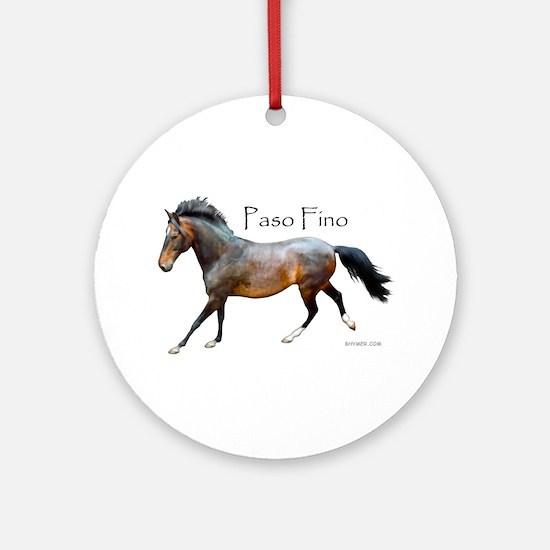 Paso Fino Ornament (Round)