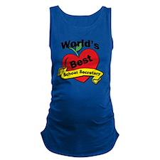 Worlds Best School Secretary Maternity Tank Top
