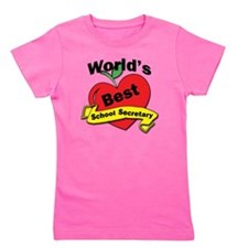 Worlds Best School Secretary Girl's Tee