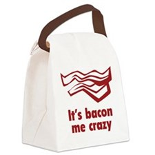 baconCrazyy1C Canvas Lunch Bag