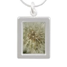 Make A Wish Note Card Silver Portrait Necklace