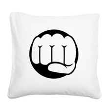 Fist of Goodness Square Canvas Pillow