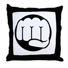 Fist of Goodness Throw Pillow