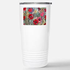Poppy Fields Stainless Steel Travel Mug