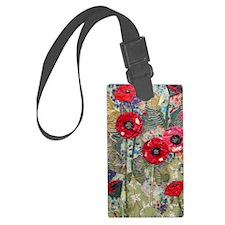 Poppy Fields Luggage Tag