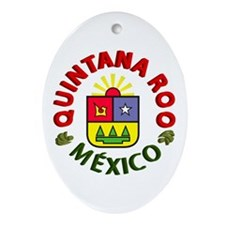 Quintana Roo Oval Ornament