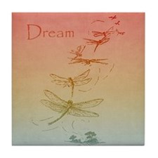 Dream Dragonflies Tile Coaster