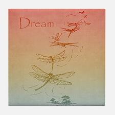 Dream Dragonflies Tile Coaster