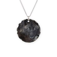 Black timber wolf Necklace