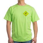Lurcher Crossing Green T-Shirt