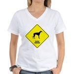 Lurcher Crossing Women's V-Neck T-Shirt
