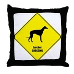 Lurcher Crossing Throw Pillow