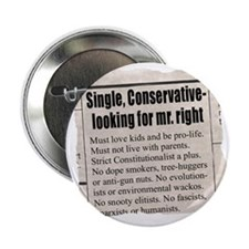 """Looking for Mr. """"Right"""" Ad 2.25"""" Button (10 pack)"""