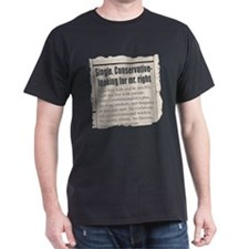 """Looking for Mr. """"Right"""" Ad T-Shirt"""