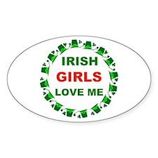 IRISH GIRLS Oval Decal