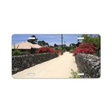 Stone Wall Alley, Taketomi, Aluminum License Plate