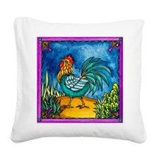Rooster 2 Square Canvas Pillow