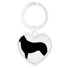 Smooth Collie Heart Keychain