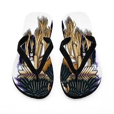 Native Crow Mandala Flip Flops