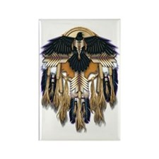 Native Crow Mandala Rectangle Magnet
