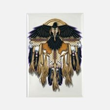 Native Crow Mandala Rectangle Magnet