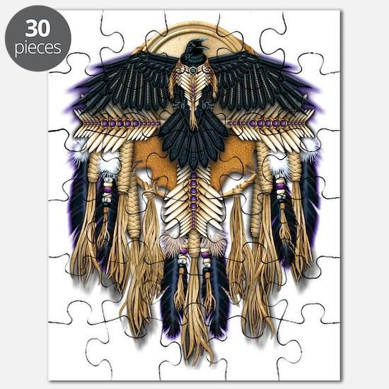 Native Crow Mandala Puzzle