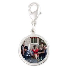 Sweet Lucy Couch Shot Silver Round Charm