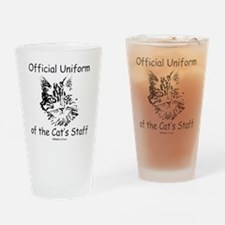 Official Uniform of the Cats Staff  Drinking Glass