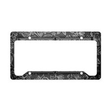 TC initials. Vintage, Floral License Plate Holder
