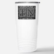 TN initials. Vintage, Floral Travel Mug