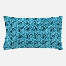 Aqua Blue Paisley Pillow Case